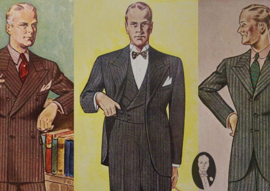 Men's Fashion between the 30s and 90s
