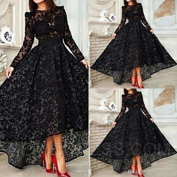 Asymmetrical long dresses